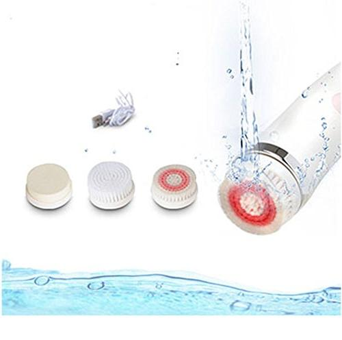 2 Brush, Waterproof Facial Rechargeable Cleaners with 3