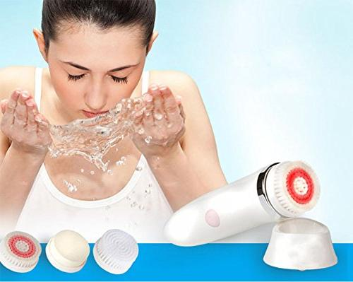 2 Facial Brush, Electric Rotating Facial USB Rechargeable 3 Heads