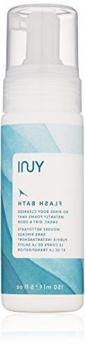 YUNI Beauty Flash Bath No Rinse Body Cleansing Foam, 5 Fl Oz