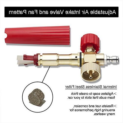 YAMATIC Adjustable Cannon 1L Car Wash Foam High Washer Quick Towel Mitt Kit