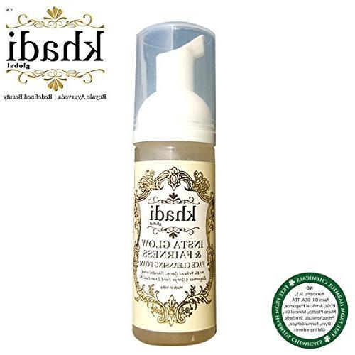 Khadi Global & Cleansing Foam With Pure Dust Germ, Sandalwood, Grape Essential Oil All Type wash