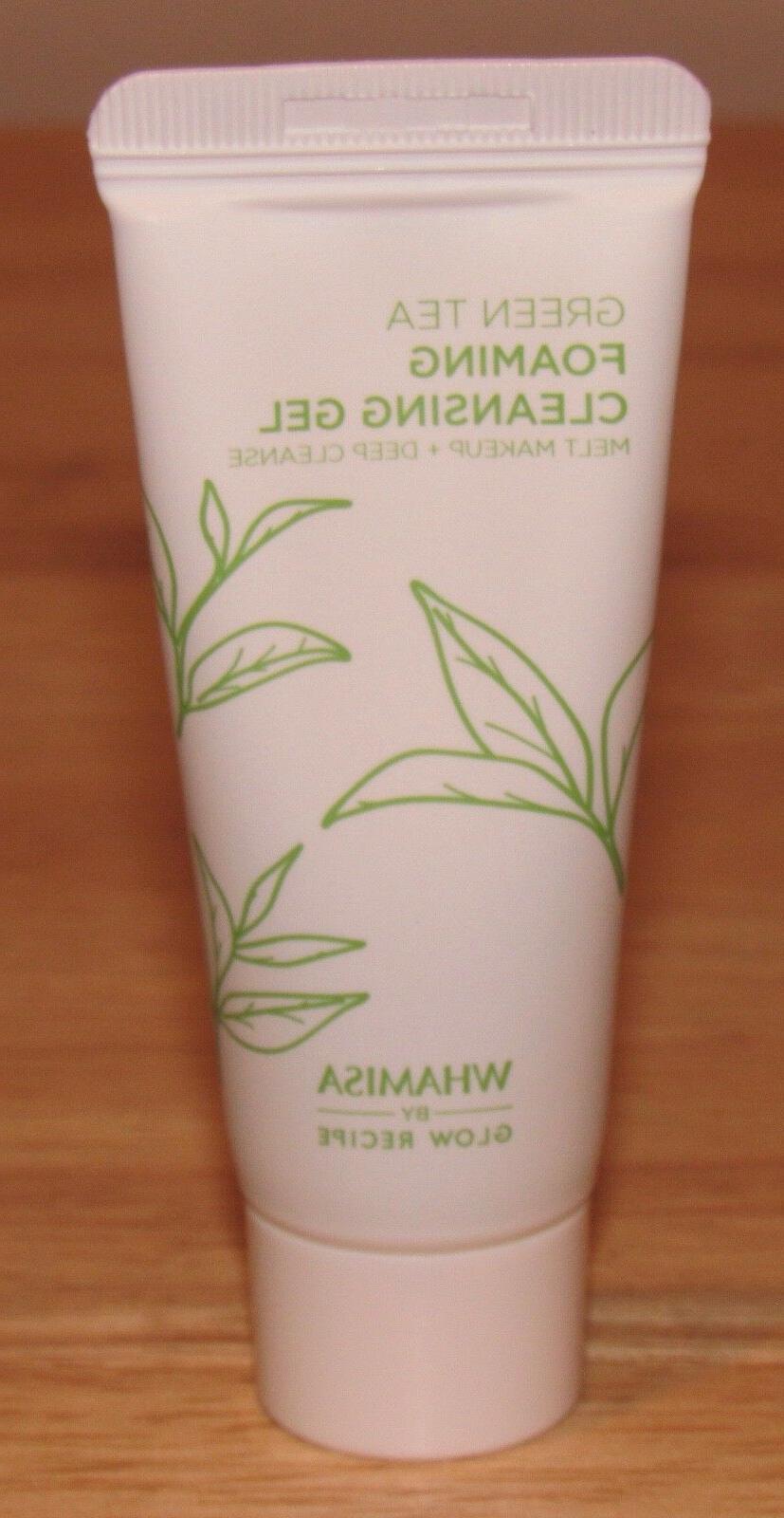 green tea foaming cleansing gel by glow