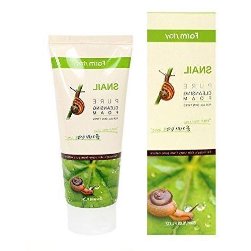 korean pure snail foam cleanser 180ml 6