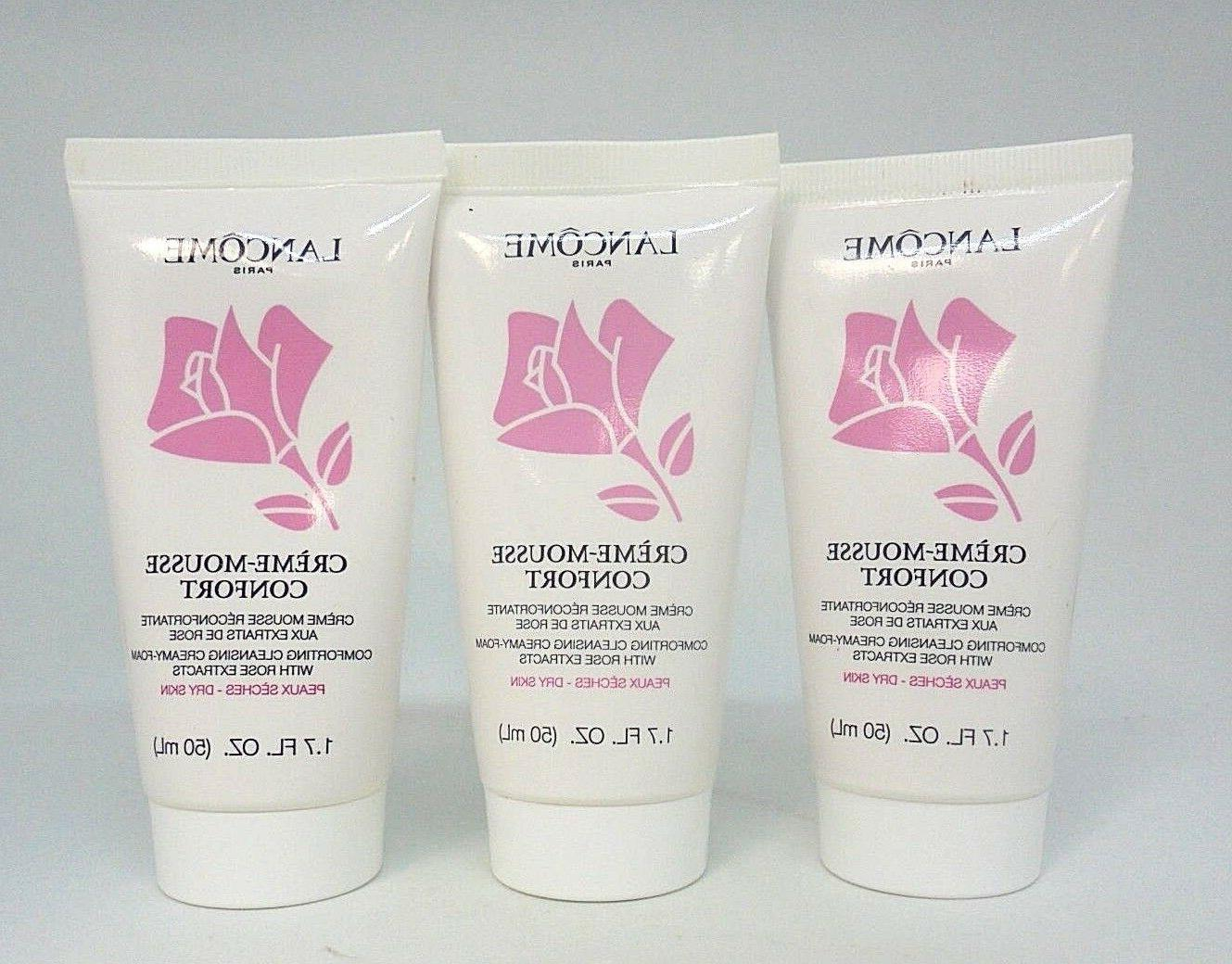 lot 3 creme mousse confort comforting cleansing
