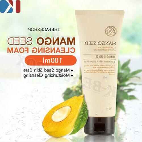 THE FACE SHOP Mango Seed Cleansing Foam 100ml Moisture Clean