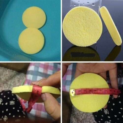 Skin Care Cleaning Mat Face Cleansing Sponge Puff Yellow Foa
