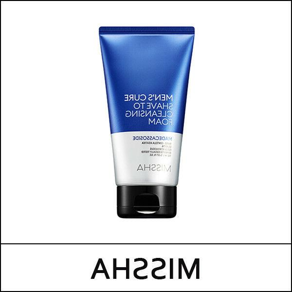men s cure shave to cleansing foam
