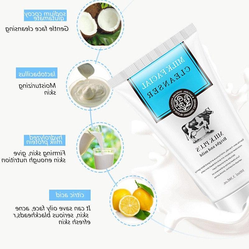 Milk <font><b>Cleanser</b></font> <font><b>Cleansing</b></font> Face Product Anti-Spots Marks Face