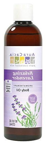 Oil-Massage-Lavender Fields Aura Cacia 8 oz Liquid