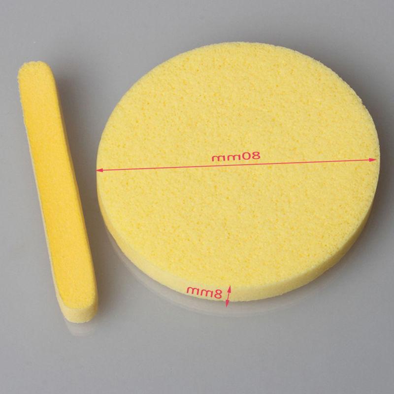 Pad 12PCS Face Wash Foam Sponge Yellow