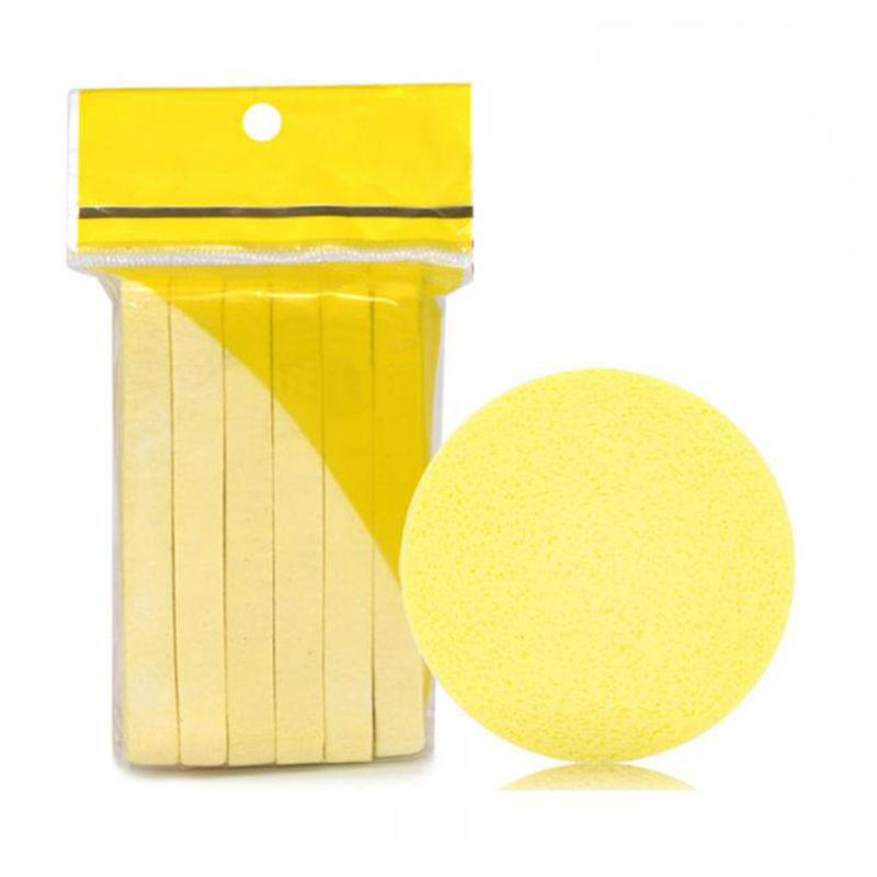 Pad 12PCS Face Cleansing Wash Foam Puff Yellow