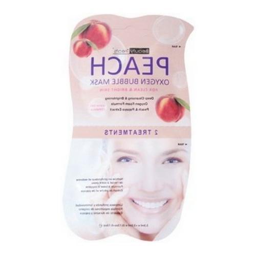 peach oxygen bubble mask