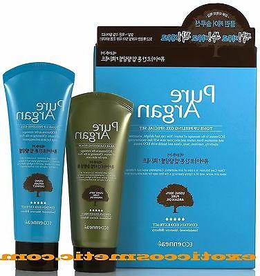 Pure Argan Oil Natural Facial Tone Up Peeling Gel & Cleansin