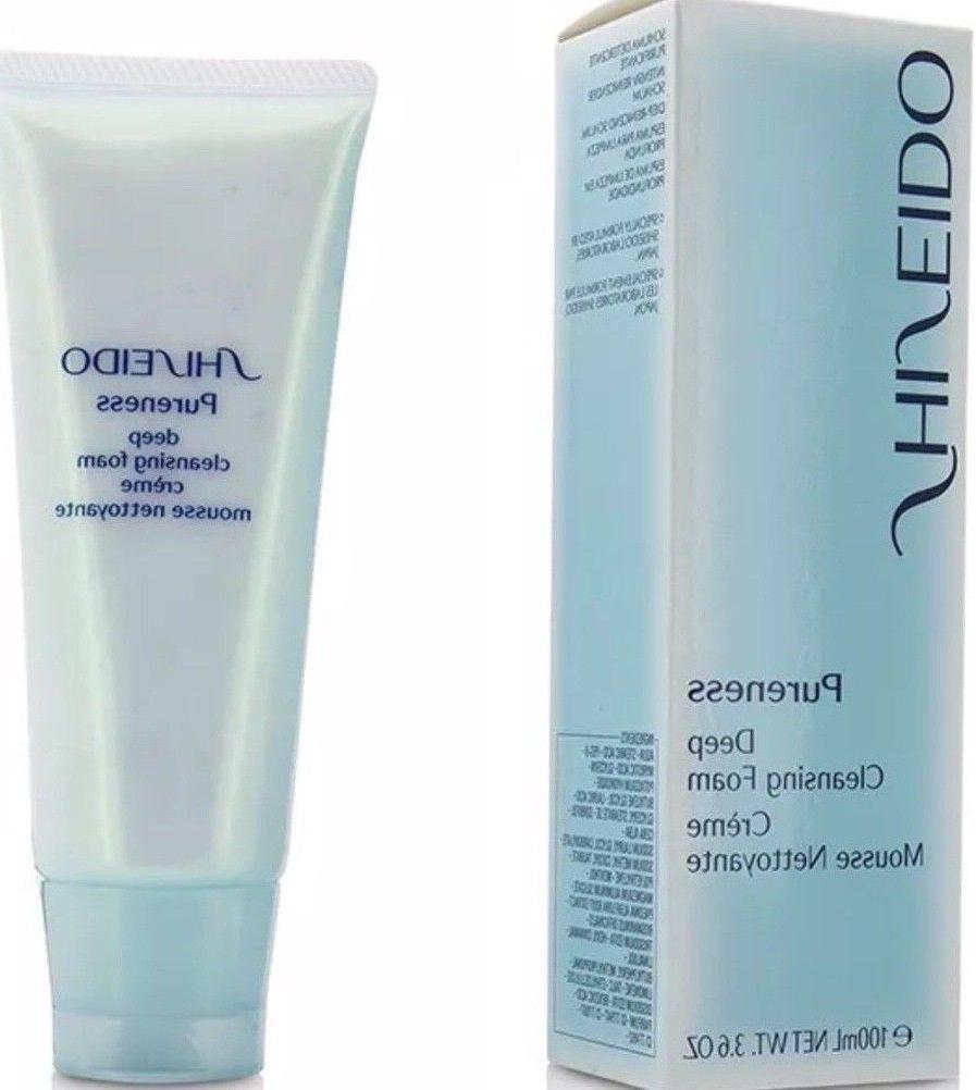 Shiseido Pureness Deep Cleansing Foam 3.6 oz /100ml New In B
