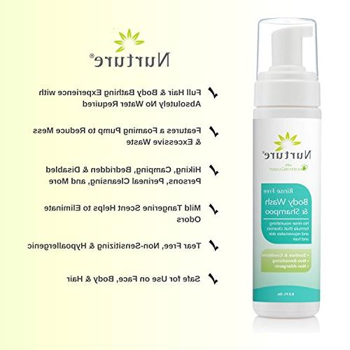 No Wash & Shampoo by | Grade Full Hair & Cleansing Foam Aloe - Non Allergenic Non Rinse Free Wipe Foaming Cleanser 3 Bottles