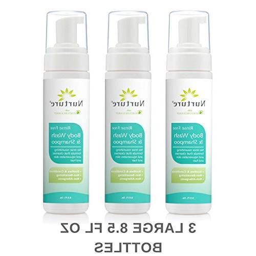 No & Shampoo by | Hospital Grade Hair Foam Aloe Vera - Non Allergenic Non Free Wipe Away Foaming Cleanser -