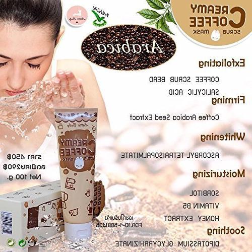3 1 Coffee Scrub & & Face benefits from coffee, Honey 100g.