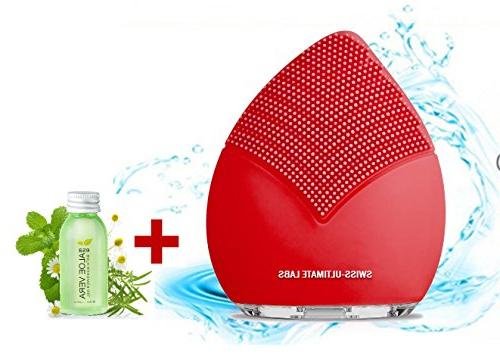 sonic leaf facial cleansing brush