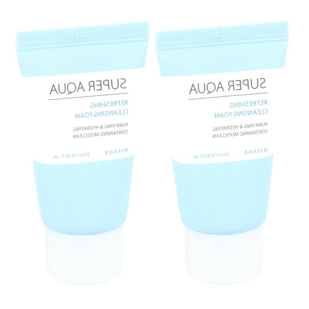 super aqua refreshing cleansing foam 20ml x