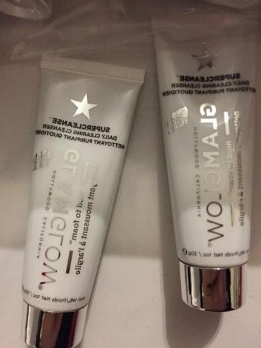 GlamGlow Super Clearing Cleanser Mud Foam 30g Tubes Of