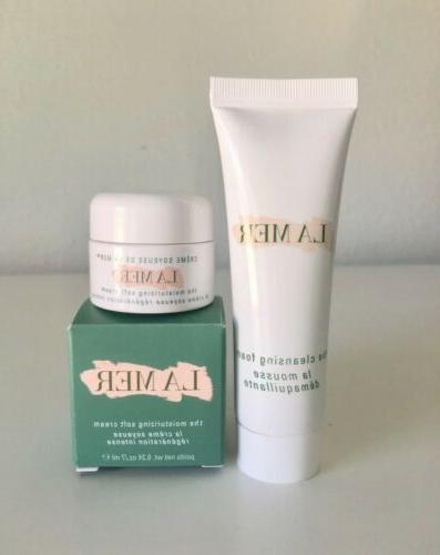 the moisturizing soft cream and cleansing foam