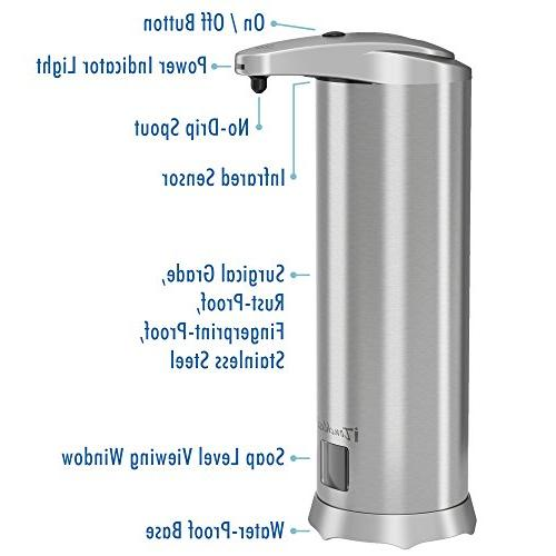 iTouchless Ultraclean Foam Rust-Free Stainless Steel, Foaming Hand Wash Touchless Bathroom &