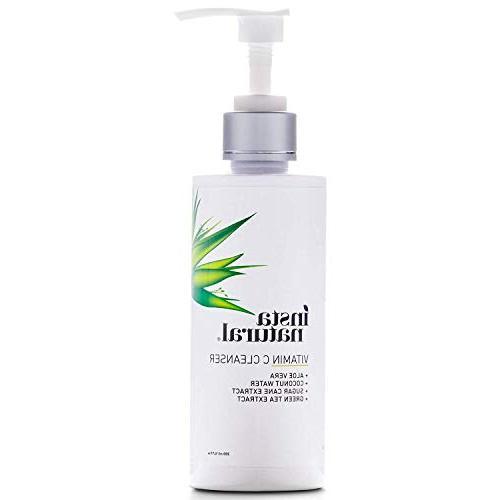 Vitamin Cleanser - & Blemish, Wrinkle Gel Wash - Clear Pores Dry Sensitive with & Natural Ingredients - 6.7 oz