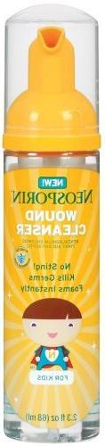 Neosporin Wound Cleansing Foam for Kids, 2.3-Ounce Bottles