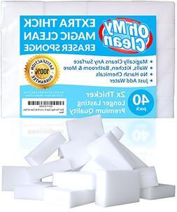 Extra Large Magic Cleaning Eraser Sponge - 2X Thick, 2X Lon