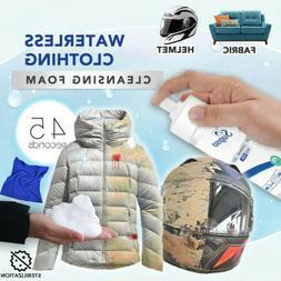 Multi-purpose Waterless Clothing Cloth Cleansing Foam Rinse-