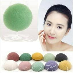 Natural Soft Jelly Cleansing Puff Konjac #Multi-Color Clay S