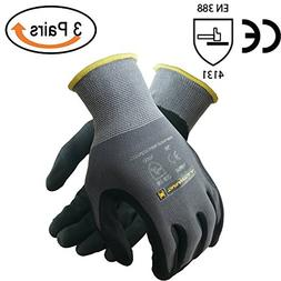 TARANTULA Nitrile Coated Safety Work Gloves, 13 Gauge Grey n