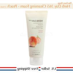 Herb Day 365 Cleansing Foam Peach 170ml Korea cosmetics