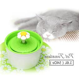 Skymee Pet Water Fountain 1.6L Automatic Cat Flower Fountain