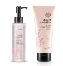 rice water bright foaming cleanser and light