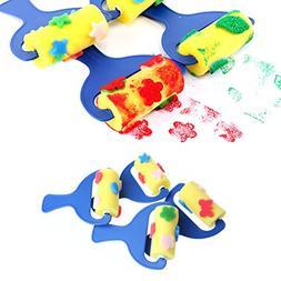 Because0f 4Pcs Sponge Roller Stamper Foam Graffiti Paint Cra