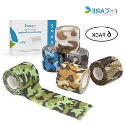 """FriCARE 2"""" Wide x 5 Yards Nonwoven Self-Adhesive Bandage, Se"""